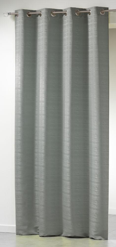 rideau jacquard double face infini gris. Black Bedroom Furniture Sets. Home Design Ideas