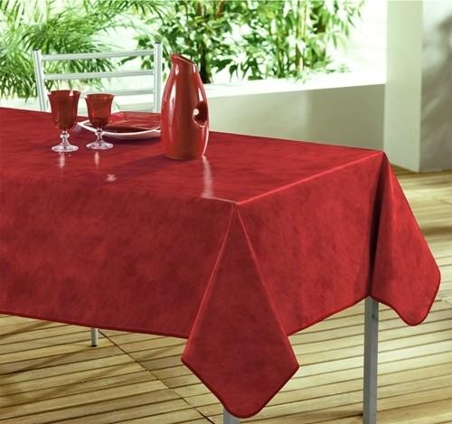 nappe toile cir e rectangle uni beton cir rouge. Black Bedroom Furniture Sets. Home Design Ideas