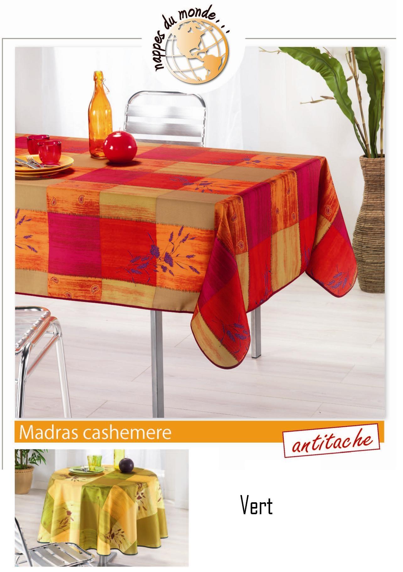 nappe carr e madras cashemire vert jaune. Black Bedroom Furniture Sets. Home Design Ideas