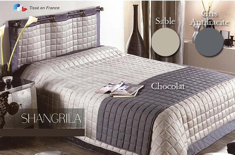 couvre lit shangrila argile chocolat. Black Bedroom Furniture Sets. Home Design Ideas