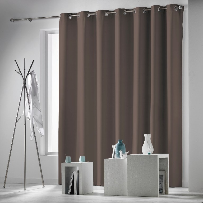 rideau occultant cocoon taupe grande largeur. Black Bedroom Furniture Sets. Home Design Ideas