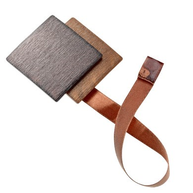 Magnet double carré aimanté Chocolat  Rouille