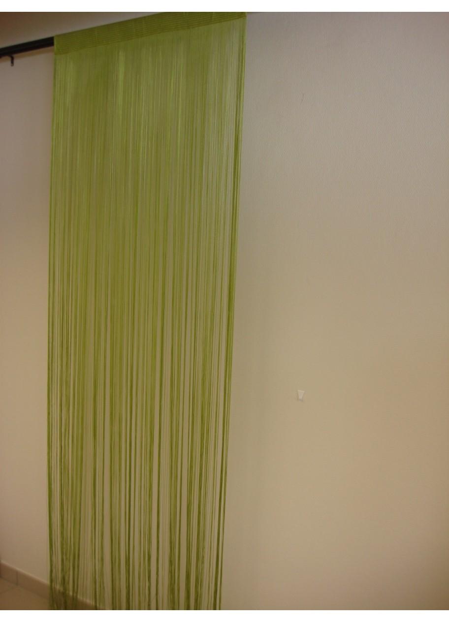 Rideau fils spaghetti anis