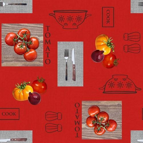 Toile Cirée au mètre Les Tomates Rouge