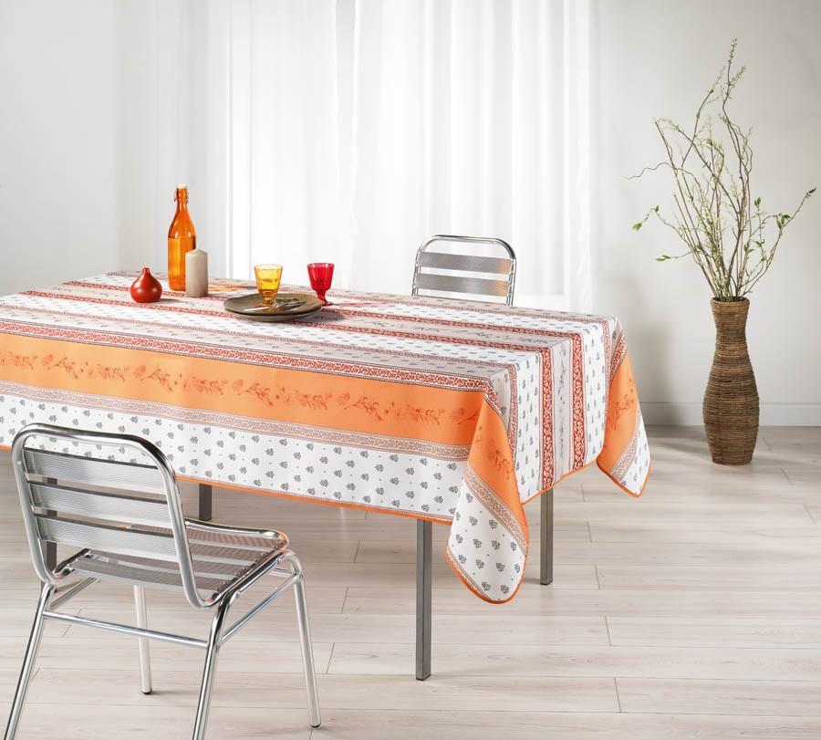 nappe carr e meridional orange. Black Bedroom Furniture Sets. Home Design Ideas