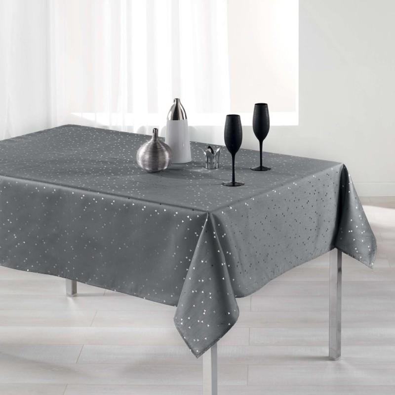 Nappe Rectangle Safina shantung grise 150x300