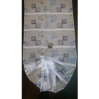 Rideau modulable au metre double carré bleu 45 cm