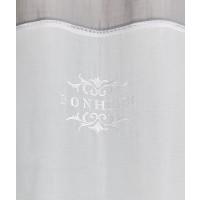 """Paire droite voile de coton brodée """"Bonheur"""" 120cm"""