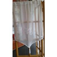 Unité étamine blanc avec pointe brodé Papillon 70cm
