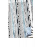 Paire organza a rayure jacquard bleu petrole 140cm