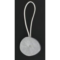 Embrasse Metallise aimantee Fossile Gris Blanc