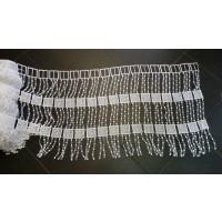 Brise Bise Macramé blanc avec des motifs carrés H:50 cm