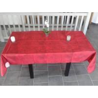 Nappe Rectangle Uni beton cire Rouge