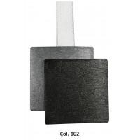 Magnet double carré aimanté Acier Anthracite