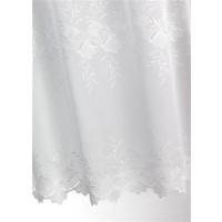 Métrage sablé blanc brodé motifs floraux