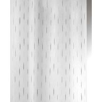 Métrage étamine jacquard fils coupés blanc-gris
