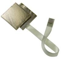 Magnet double carré aimanté Doré