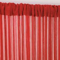 Rideau fils spaghetti rouge