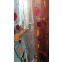 Voilage organza ronds Orange Cuivre 4 grands