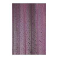 Paire de voilage fileté à fines rayures verticales Prune 160cm