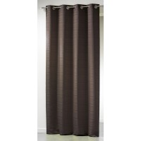"Rideau jacquard double face Infini choco "" lot de 2"""