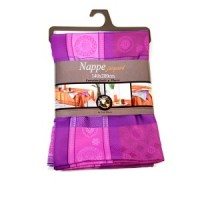 Nappe Rectangle Alicante Prune Rose