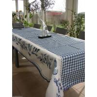 Nappe Rectangle Basse Cour Bleu