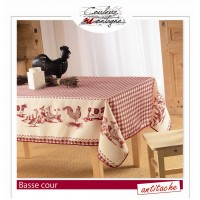 Nappe Rectangle Basse Cour Rouge