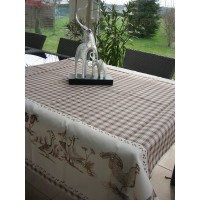 Nappe Rectangle Basse Cour Beige