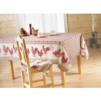 Nappe ovale Belle Epoque Rouge