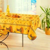 Nappe Rectangle Bouquet de Ble Jaune Vif