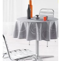 Nappe Ronde Bully Gris Perle