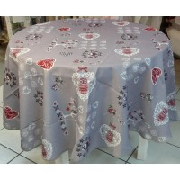 Nappe Ronde Chouetti Gris