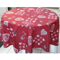 Nappe Ronde Chouetti Rouge