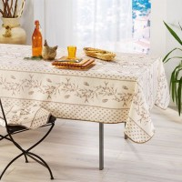 Nappe Rectangle Cigale Olive Beige/Marron
