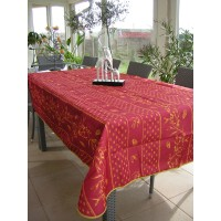Nappe Rectangle Cigale Olive Bordeaux