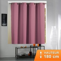 Rideau Occultant Cocoon Rose dragee 180 cm
