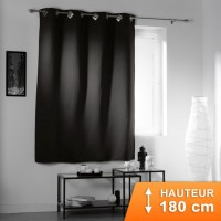 Rideau Occultant Cocoon Noir 180 cm