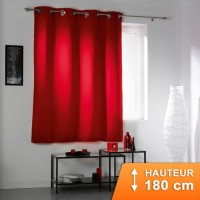 Rideau Occultant Cocoon Rouge 180 cm
