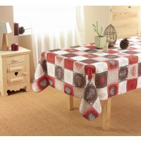 Nappe Rectangle Coeur de montagne Choco