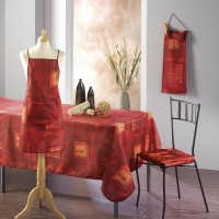Nappe Rectangle Dido Rouge Ocre
