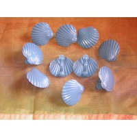 Lot de 10 Pinces Coquillage Bleu
