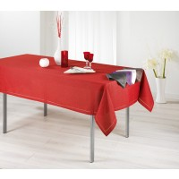Nappe Rectangle Chambray Elegance Rouge