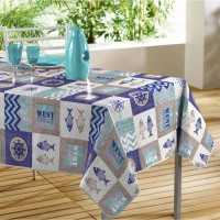 Nappe Toile Cirée Rectangle Escale