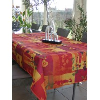 Nappe Carrée Ethnic Rouge