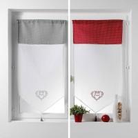 Paire droite Etamine Home Love gris 120cm