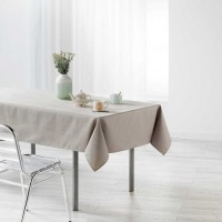 Nappe enduit rectangle Liany Gris Taupe