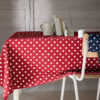 Nappe Rectangle Lollypop Rouge à pois blanc