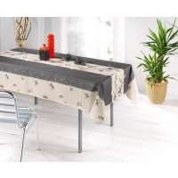 Nappe Carrée Lys Anthracite