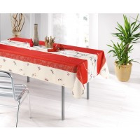 Nappe Rectangle Lys Rouge